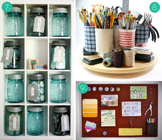 Ideas para ordenar tu material de manualidades el taller de las cosas bonitas - Craft area for small spaces property ...