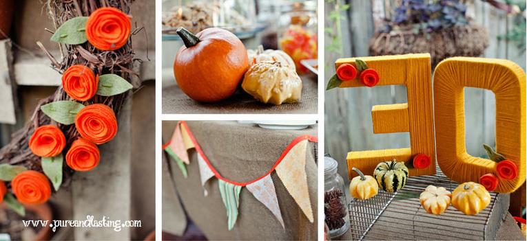Fiesta de cumplea os en oto o el taller de las cosas bonitas for Decoracion otono infantil