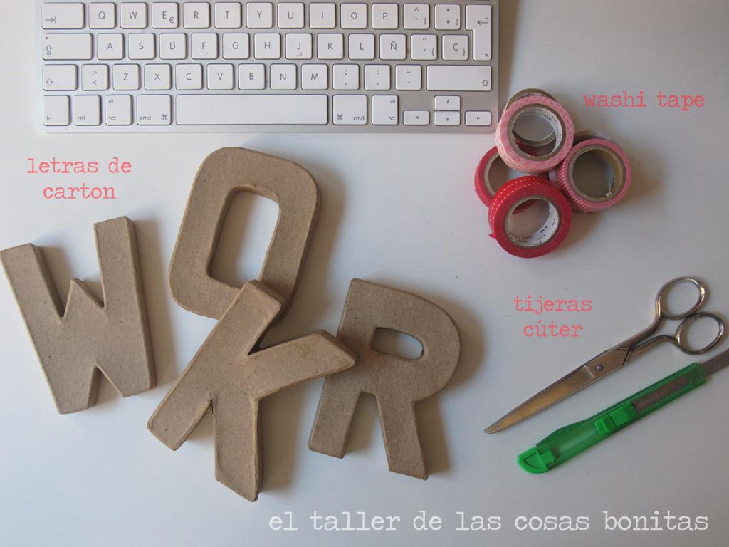 Letras Craft 01 El Taller De Las Cosas Bonitas
