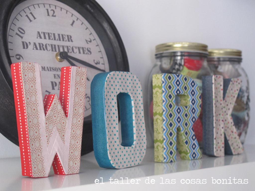 Diy tutorial letras cart n y washi tape el taller de las - Como decorar con washi tape ...