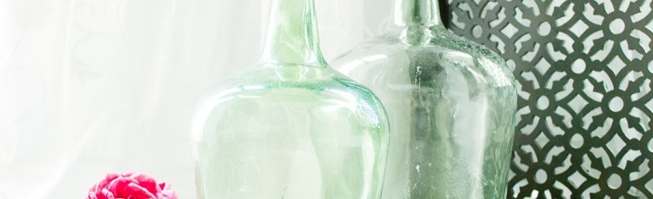 Decorar bodas con Damajuanas o garrafas de vidrio