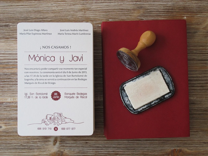 Invitaciones de boda originales y sencillas el taller de - Bodas sencillas pero bonitas ...