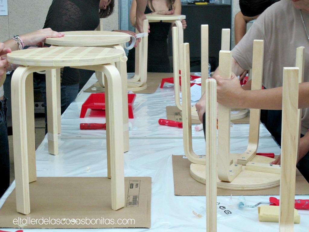 muebles , que hicimos con el patrocinio de Ikea y pinturas Valentine