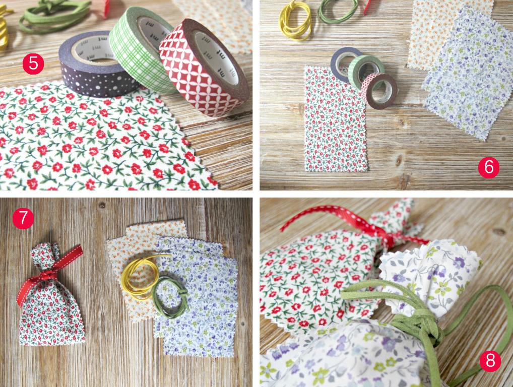 9dd8cc1d6 DIY Cómo hacer bolsa de tela sin coser - El taller de las cosas bonitas