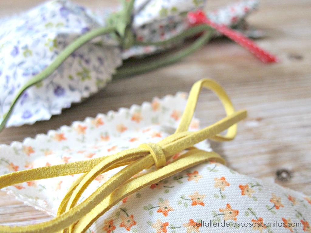 DIY Cómo hacer bolsa de tela sin coser - El taller de las cosas bonitas