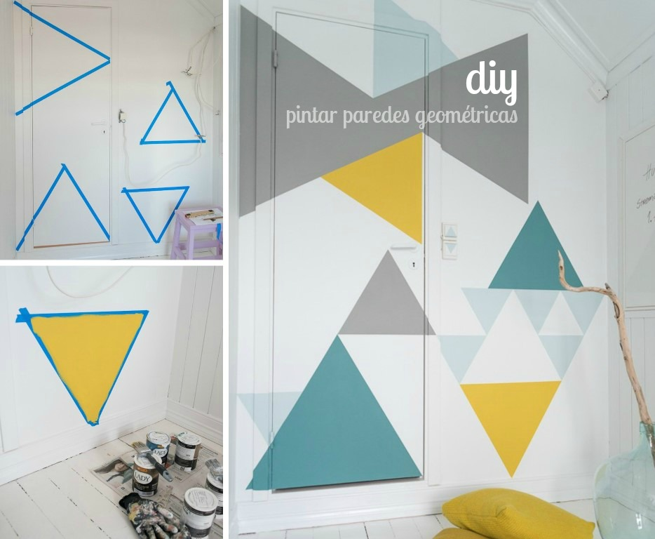 tutorial pintar pared geométrica