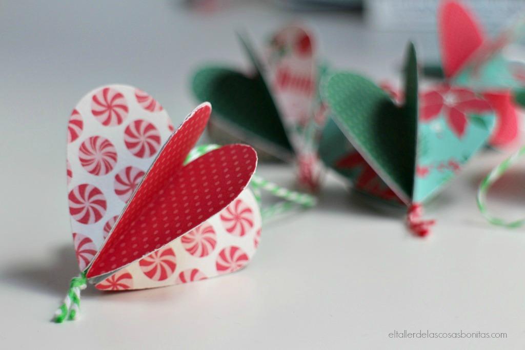 Adornos navide os de papel f ciles el taller de las - Adornos navidenos paso a paso ...