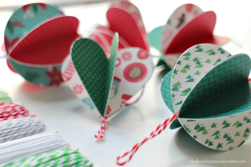 Adornos navide os de papel f ciles el taller de las - Adornos de navidad con cartulina ...