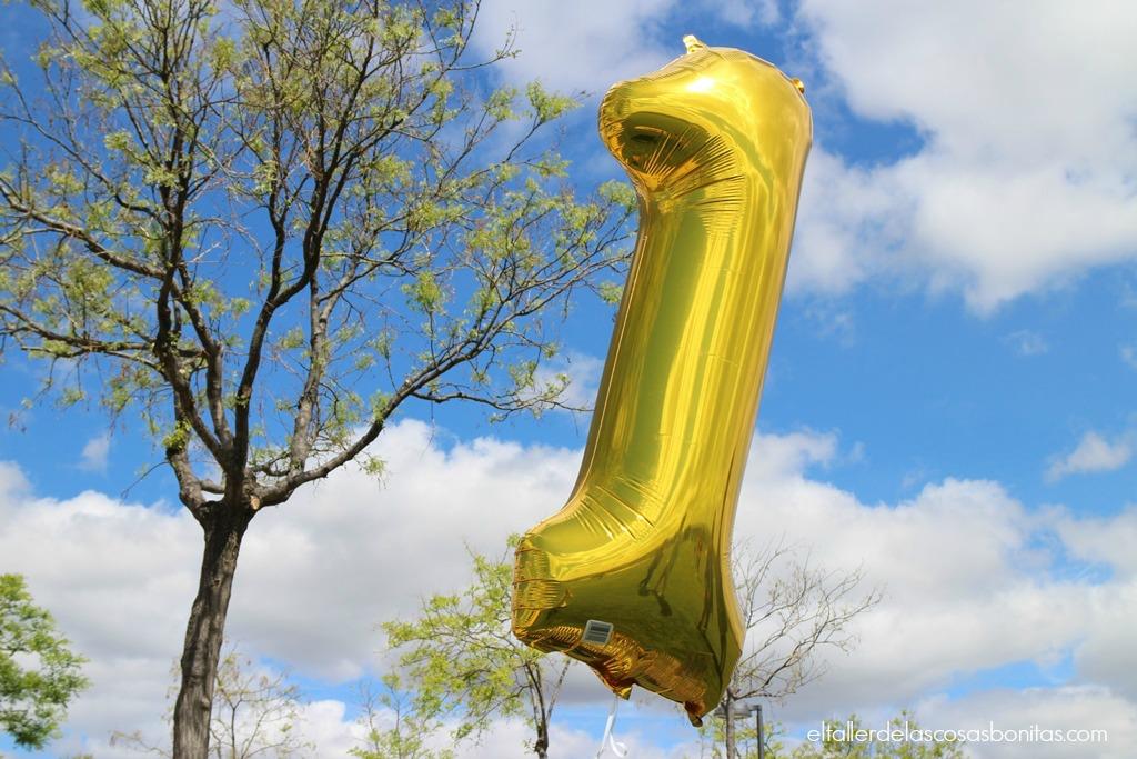 globo helio dorado uno