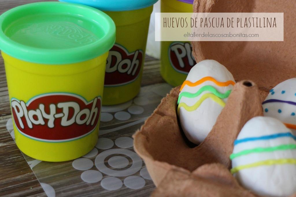 huevos de pascua de plastilina