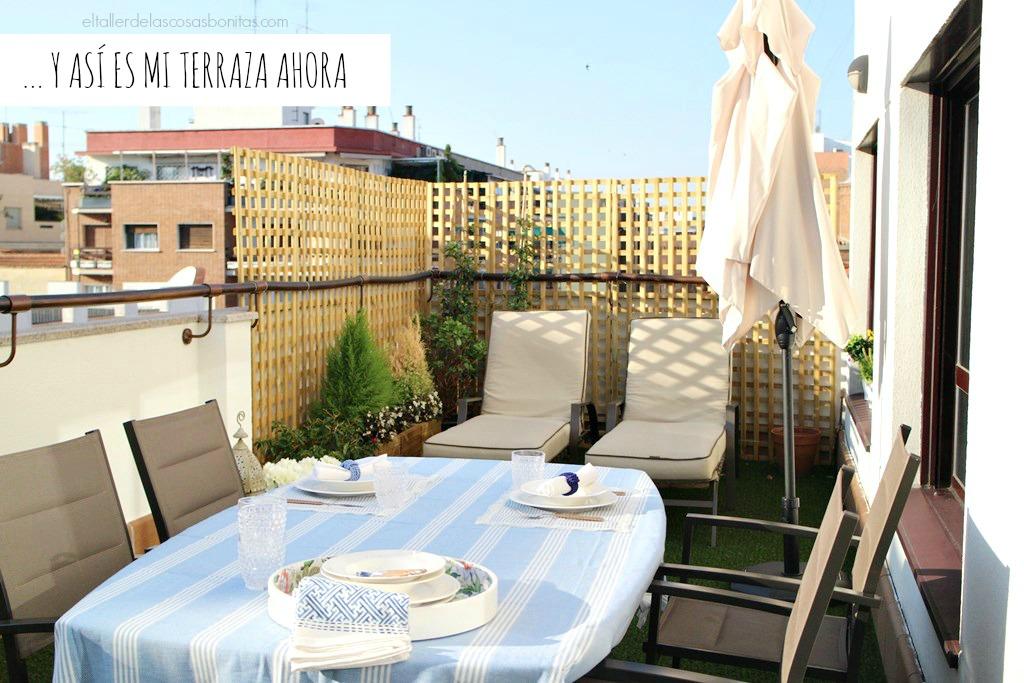 terraza después