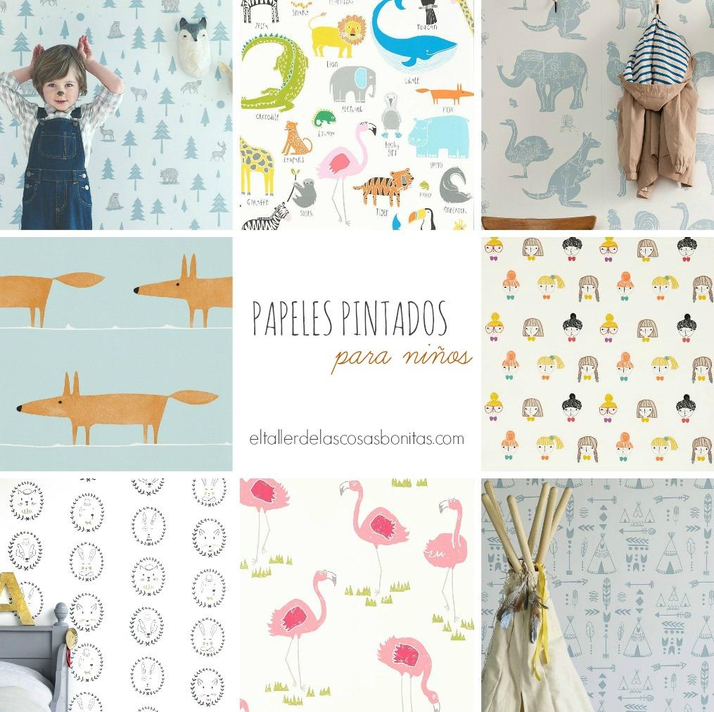 Papeles pintados para habitaciones de ni os el taller de for Imagenes de papel pintado