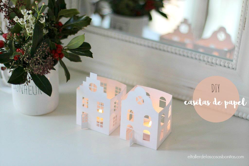 01 recortable casitas papel navidad