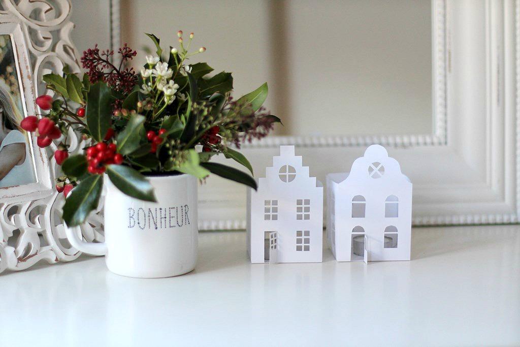 Casitas de papel n rdicas para navidad el taller de las for Casitas madera decoracion