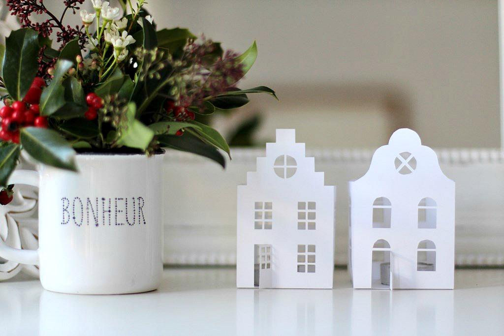 Casitas de papel n rdicas para navidad handbox craft for Casas nordicas decoracion