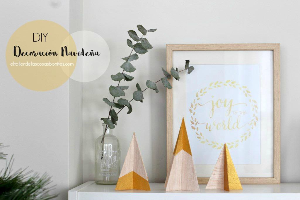 Decoraci n navide a f cil y sencilla el taller de las cosas bonitas - Decoracion navidena minimalista ...
