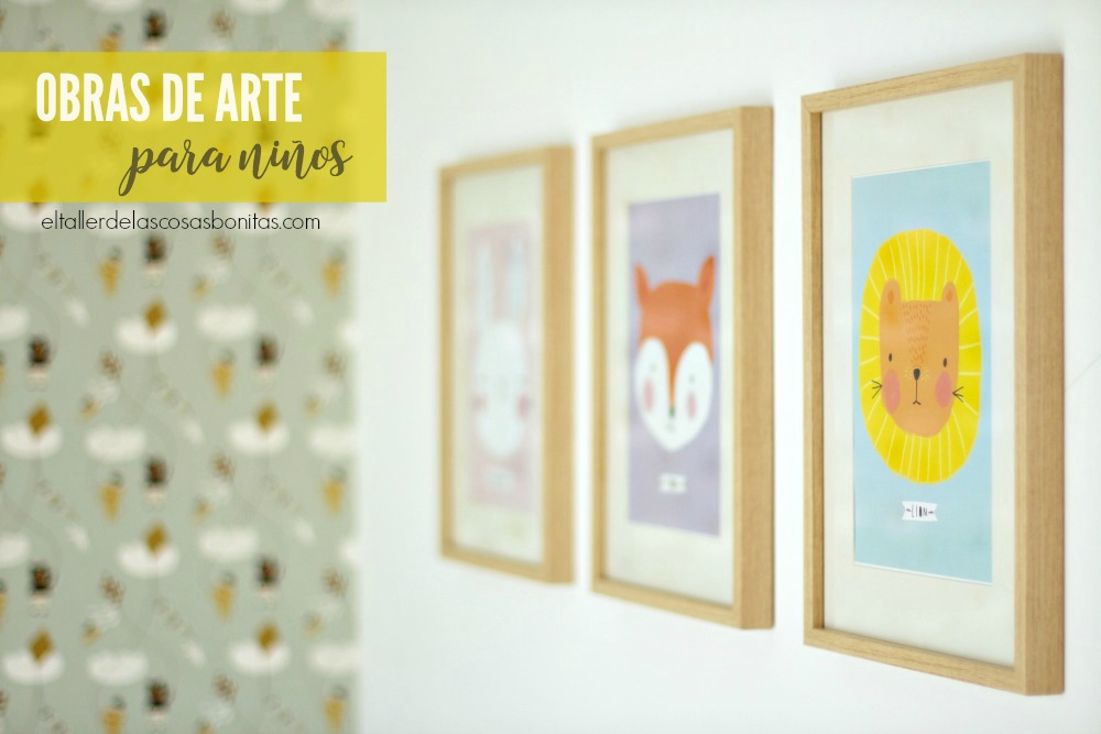 Menudos cuadros el taller de las cosas bonitas - Cuadros para habitaciones infantiles ...