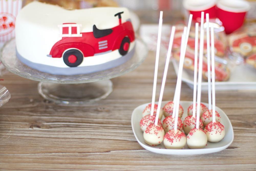 fiesta cumpleaños camion bomberos vintage 14
