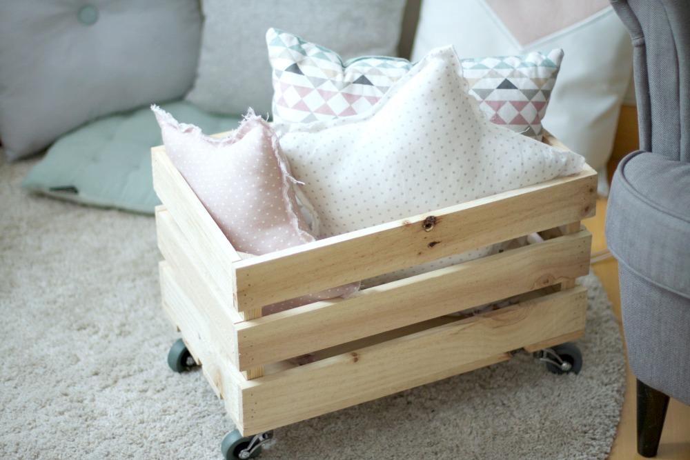 diy caja de madera de almacenaje para juguetes
