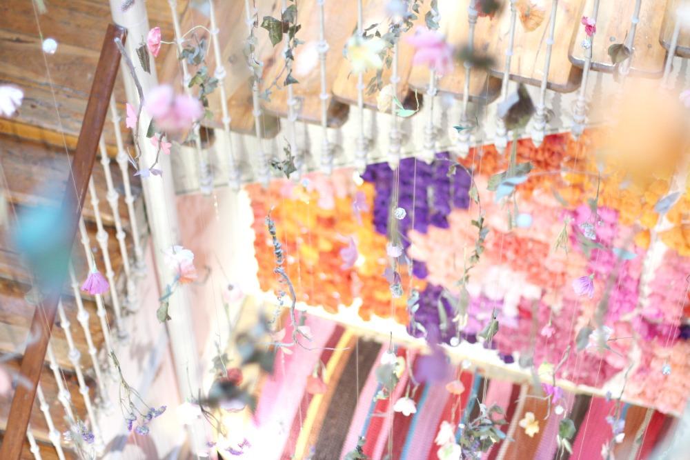 Casa Decor 2016 Escalera flores 01
