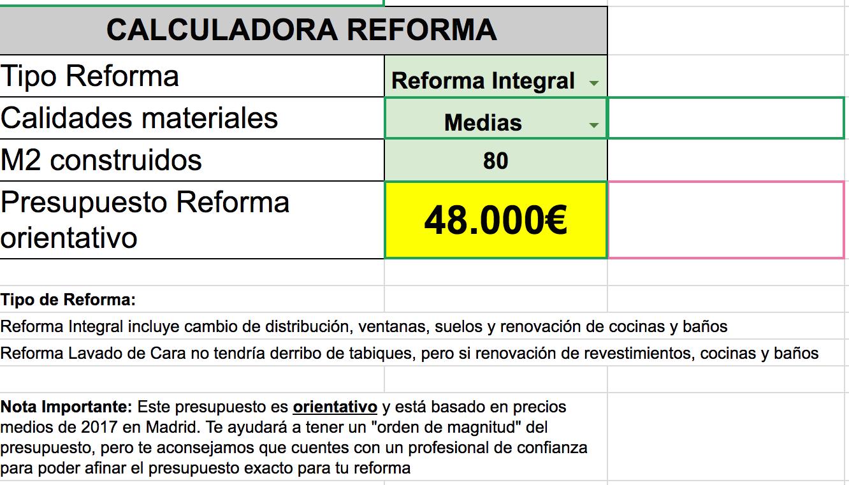 Precio Reforma Integral Piso Fabulous Reforma Integral De Piso  ~ Ejemplo De Un Presupuesto Reforma Baño